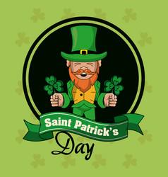 saint patricks days cartoons card vector image vector image