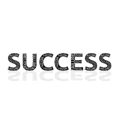 Success made of failures vector image vector image