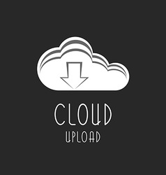 Cloud icon upload arrow sign the process is vector