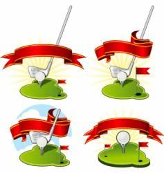 golf emblems vector image vector image