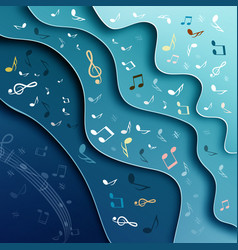 music background abstract cover design with notes vector image