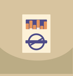 open cigarettes pack box flat style vector image