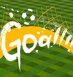 soccer design over green background vector image vector image