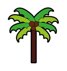 cute beach palm cartoon vector image vector image