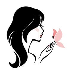 head woman vector image vector image