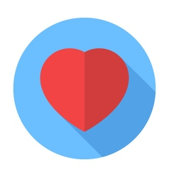 Heart icon Flat Design icon vector image vector image