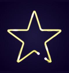 neon star light vector image