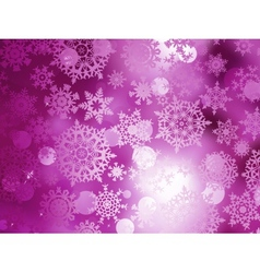 Pink Christmas background with snowflakes EPS 10 vector image vector image
