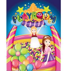 playroom vector image vector image