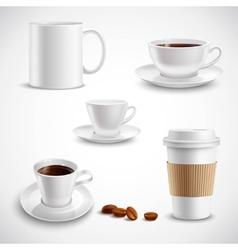 Realistic Coffee Set vector image