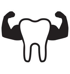 Strong Teeth Icon vector image vector image