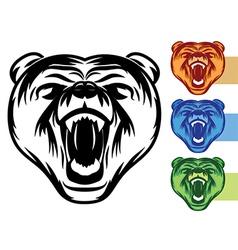 Bear Mascot Icons vector image vector image