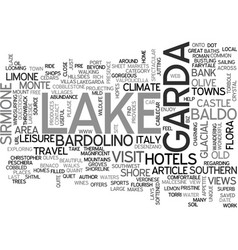 beautiful lake garda italy text word cloud concept vector image