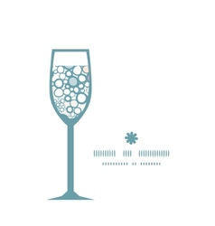 colorful bubbles wine glass silhouette pattern vector image vector image