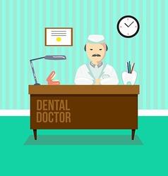 Dentist in dental clinic vector image