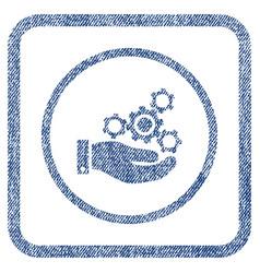 mechanics service fabric textured icon vector image vector image