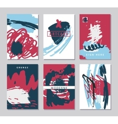 set of abstract creative artistic cards vector image vector image