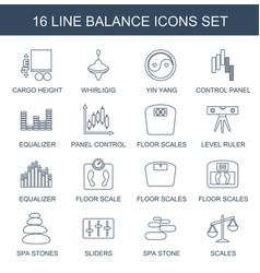 16 balance icons vector image