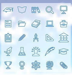 25 education icons vector image