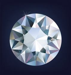 a shiny bright diamond vector image