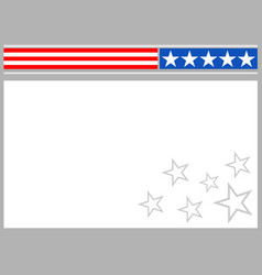 american flag symbols frame border background vector image