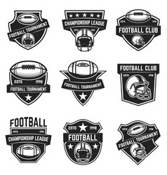 American football emblems design element for logo vector
