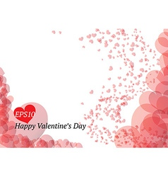 Beautiful Valentines Day card vector image