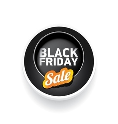 Black Friday sale poster or banner vector