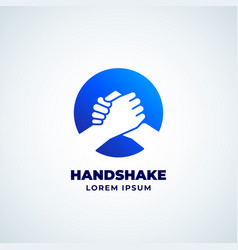 bro handshake abstract sign symbol or logo vector image