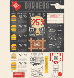 Burger menu template vector