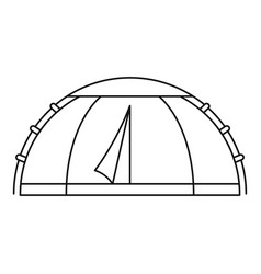 camp round tent icon outline style vector image