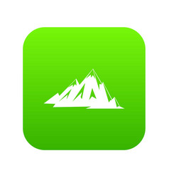 Canadian mountains icon digital green vector