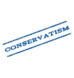 Conservatism Watermark Stamp vector image