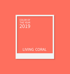 Coral color trend palette living coral color of vector