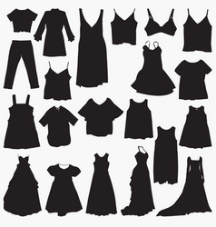 dresses silhouettes vector image