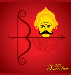 dussehra festival greeting or poster design vector image