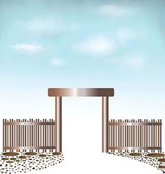 Fences Doors sky background vector image