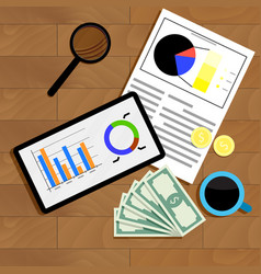 financial statistics top view vector image