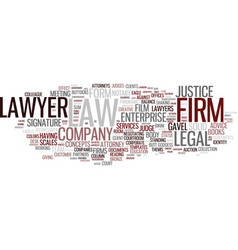 firms word cloud concept vector image