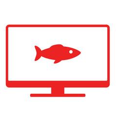 Fish and screen vector