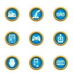 Game development icons set flat style vector