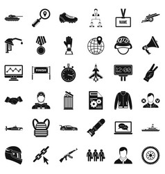 Great victory icons set simple style vector