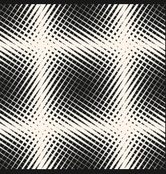 halftone geometric seamless pattern vector image