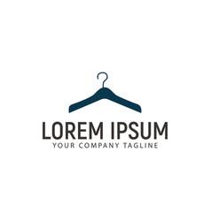 Hanger clothes logo design concept template vector