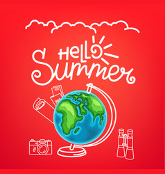 hello summer concept summer travel vector image