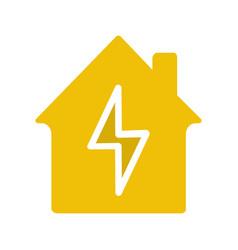 home electrification glyph color icon vector image