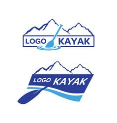 kayak-logo vector image
