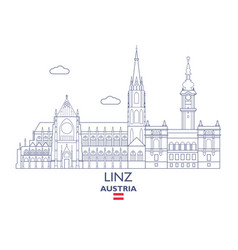 Linz city skyline vector