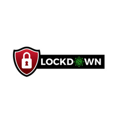 Lockdown sign social distance symbol for vector