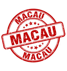 Macau stamp vector